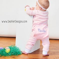 A personal favorite from my Etsy shop https://www.etsy.com/listing/499147426/easter-jammies-monogrammed-easter