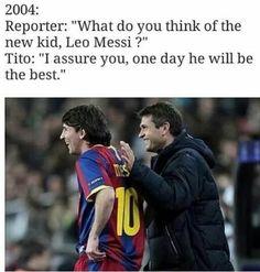 Pewnego dnia on będzie najlepszy na świecie • Tito Vilanova tak powiedział w 2004 roku o Lionelu Messim • Wejdź i zobacz więcej >> #messi #lionelmessi #football #soccer #sports #pilkanozna