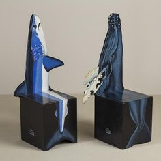Talisman A Limited Edition Pair of Chairs depicting a Whale and Shark 1991 -