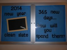 New Year Clean Slate Bulletin Board
