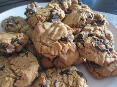 For the love: Peanut Butter Chocolate Chunk Cookies gluten free & dairy free delish!