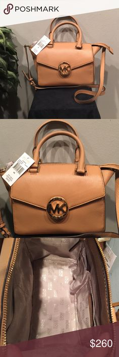 """New W/Tags Michael KORS """"Hudson"""" Leather Bag New condition, tags attached.  All Genuine Leather. Soft. Not the Hard leather that is often seen on MK's Bags.  This is a 2014-2015 style.  Not sure if they are still available. Selling for Daughter in college - will be her holiday spending money. Please no low ball offers. Michael Kors Bags Satchels"""