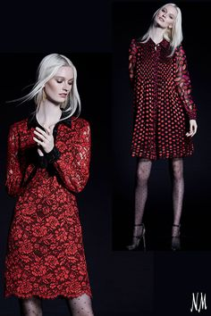 No one does dresses quite like DVF. Embrace Fall's hottest color with one of these red-hot dresses. Pair them with patterned tights and ankle-strap heels for a flirty date night look.