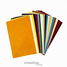 Dekoracyjny filc do rękodzieła A4/24szt - zestaw klasyczny : sklep internetowy Creativehobby