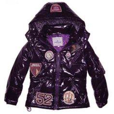 France Moncler Hooded Dark Purple Coat Moncler Kids Outlet Purple Coat 52ef1eed619