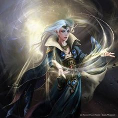 Light magic High Elf Mage.  Whilst lesser races must study magic in its corrupted, broken form, High Elf Mages harness its power as pure, mystical energy. The minor spells of the Asur, those Lores of Magic taught to Men by the legendary High Elf Mage Teclis, are but a pale reflection of the power that can be wielded by an Asur fully trained in the magical arts at the White Tower.