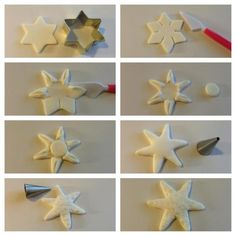 Cake decorating: Modelling starfish and shells adapt to polyclay