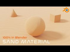 (11) Easy Procedural Sand Material - Blender 2.9 EEVEE - YouTube Place Cards, Place Card Holders, 3d, Easy, Youtube, How To Make, Texture