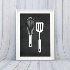 Digital Download Kitchen Whisk Spatula Utensil by indulgemyheart #home #decor #wall #art #decor #print #food #kitchen #spatula #whisk #utensils #eat #dining