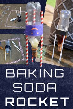 Learn about Newton's Third Law with this easy baking soda rocket! Fun rocket science experiment for kids #scienceforkids #rocketscience #bakingsodarocket At Home Science Experiments, Science Projects For Kids, Science Activities For Kids, Preschool Science, Science Fun, Science Education, Science Chemistry, Physical Science, Earth Science