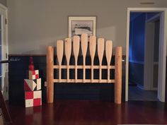 Nautical Unfinished Full Headboard