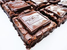 "Ghirardelli Dark Chocolate Raspberry Brownie Recipe (aka ""Put a chocolate bar on a brownie? Is this even legal?"")"