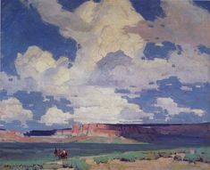 Stapleton Kearns: Edgar Payne, Compostiton of outdoor painting Western Landscape, Landscape Art, Landscape Paintings, Nature Paintings, Edgar Payne, Sky Painting, Southwest Art, Chef D Oeuvre, Traditional Paintings