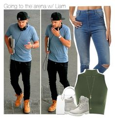 """Going to the arena with Liam"" by direction-of-the-summer ❤ liked on Polyvore featuring Wrangler, Michael Kors, WearAll and Timberland"
