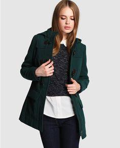 Trenka de mujer Fórmula Joven verde con capucha