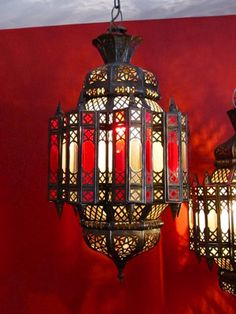 Royal Ruby Tangiers Lantern