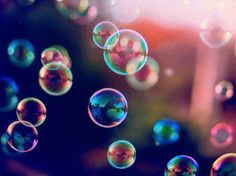 I remember blowing bubbles all the time when I was younger