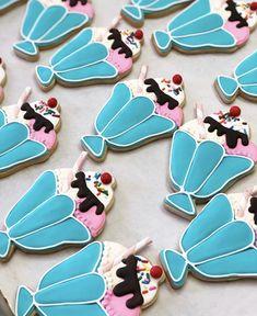 Call or email to order your celebration cookies today! Cookie Designs, Cookie Ideas, Custom Cookies, Royal Icing, Milkshake, Dessert Table, Cookie Decorating, Sugar Cookies, Sprinkles