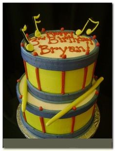 """Awesome birthday cake """"DRUMS"""""""