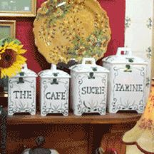 Great canisters if you plan to leave them out.