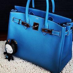 Blue Hermes Bag - Secrets of stylish women