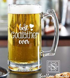 Design Your Own Beer Glass Godfather Gifts, The Godfather, Godfather Quotes, Godparent Gifts, Baptism Gifts, Engraved Beer Glass, Best Dad Gifts, Fathers Day Gifts, Beer Gifts