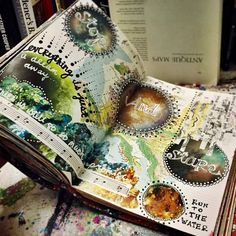 Art journal pages by Jenndalyn Art. Art journal pages by Jenndalyn Art. Art Journal Pages, Art Journals, Journal Ideas, Visual Journals, Artist Journal, Travel Journals, Journal Design, Journal Prompts, Art Pages