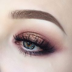 red + copper tones in a sultry smokey eye | makeup @jayblissy | similar: https://www.instagram.com/p/BDTdULaQF2O/