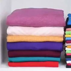 Save space when folding your clothes Ideas clothes Clothing hacks videos folding Save Space Diy Clothes Hacks, Diy Clothes And Shoes, Diy Clothes Videos, Clothing Hacks, Fold Clothes, Bedroom Organization Diy, Home Organization Hacks, Organizing, Diy Crafts Hacks