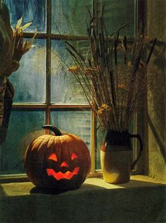 A jack-o'-lantern (or jack o'lantern) is a carved pumpkin or turnip lantern, associated with the holiday of Halloween and named after the phenomenon of a strange light flickering over peat bogs, called will-o'-the-wisp or jack-o'-lantern. Retro Halloween, Happy Halloween, Samhain Halloween, Halloween Window, Halloween Pictures, Holidays Halloween, Halloween Pumpkins, Halloween Crafts, Halloween Decorations