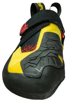 Skwama climbing shoes.