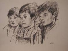 Original Kids Drawing by Ellen Fasthuber-huemer Chalk Drawings, Drawing For Kids, Figurative Art, Impressionism, Buy Art, Paper Art, Saatchi Art, Original Art, The Originals