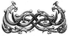 half-stoned dragon band by on DeviantArt Dragon Tattoos For Men, Dragon Tattoo Designs, Viking Tattoos, Tattoo Celtic, Viking Dragon, Celtic Dragon, Celtic Art, Feather Tattoo For Men, Feather Tattoos