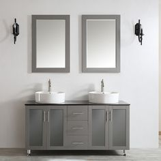 """Found it at Wayfair - Tuscany 60"""" Double Vanity Set with Mirror"""