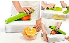 ☑ Worldwide Free Shipping. ☑ No Tax Charges. ☑ Best Price Guarantee. ☑ Refund if you don't receive your order. ☑ Refund & Keep item, if not as described.Item Specifics: Type: Fruit & Vegetable Tools Certification: CIQ,CE / EU Model Number: AKC6009 Fruit & Vegetable Tools Type: Shredders & Slicers Featur Chopper, Must Have Kitchen Gadgets, Kitchen Tools And Gadgets, Cooking Tools, Cooking Time, Slicer Dicer, Mandoline, Mandolin Slicer, Vegetable Slicer