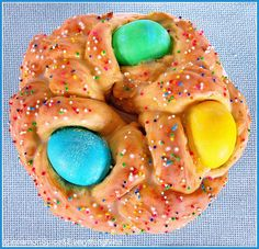 Italian Easter Bread. You have to wait until Easter morning before you can take a bite. It's so festive and colorful. Recipes for Easter