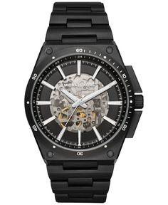 f746ff4ec44 Michael Kors Men s Automatic Wilder Black Ion-Plated Stainless Steel  Bracelet Watch 44mm MK9023 Homens