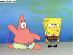 """spongebob.. """"can't touch this""""..for some inexplicable reason(ok..I try to get him. I do)..there is a child here who loves Sponge Bob..and for the same inexplicable reason..this song makes her want to dance! And boy. Does she ever."""