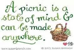 Susan Branch Oh this reminds me of the impromptu picnic with a dear friend who took a trying day and made it happy. Never mind that we had no silverware or plates- we made do and ended up with smiles! Picnic Time, Summer Picnic, Summer Fun, Picnic Spot, Garden Picnic, Summer Days, Picnic Parties, Beach Picnic, Happy Summer