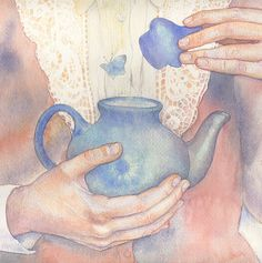 tea and butterfly   (Masha Kurbatova)