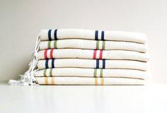 Best Quality Set of 6 Towels Eco Friendly Hand Woven Cotton PESHTEMALS Anti Bacterial Turkish Bath,Beach,Spa,Yoga,Pool Towel on Etsy, $153.00