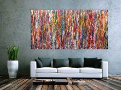 Modernes Acrylbild abstrakt und bund 200x100cm von xxl-art.de