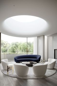 Cue The Curves! All About The Curvy Sofa & Furniture Trend — The Savvy Heart Interior Design Blogs, Interior Design Inspiration, Interior Decorating, Sofa Furniture, Furniture Design, Loft Design, House Design, Curve Design, Design Design