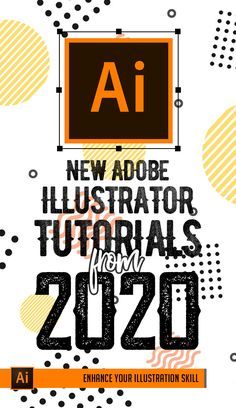 Illustrator Tutorials: 33 New Adobe Illustrator Tuts Learn Drawing and Illustration Design Typography, Design Logo, Design Poster, Typography Poster, Type Design, Adobe Illustrator Tutorials, Photoshop Illustrator, Ai Illustrator, Japanese Graphic Design