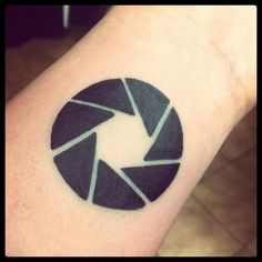 My new aperture tattoo by ~thejokerface on deviantART