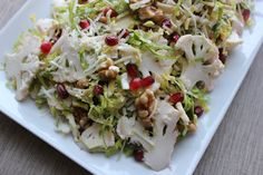 Shaved Brussels Sprout and Cauliflower Salad (without walnuts)