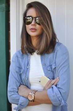 Gorgeous Shoulder Length Hairstyles to Try This Year (23)