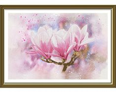 Modern cross stitch kits and cozy DIY craft kits by TayaNeedle Oil Painting Flowers, Oil Painting On Canvas, Oil Paintings, Nail Designs Spring, Cool Nail Designs, Flower Oil, Flower Petals, Modern Cross Stitch, Cross Stitch Kits