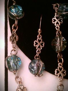Luck O' the Irish matching jewelry set of wire by mistydlee, $35.00