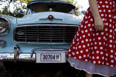 Sucker for red & white polka dots